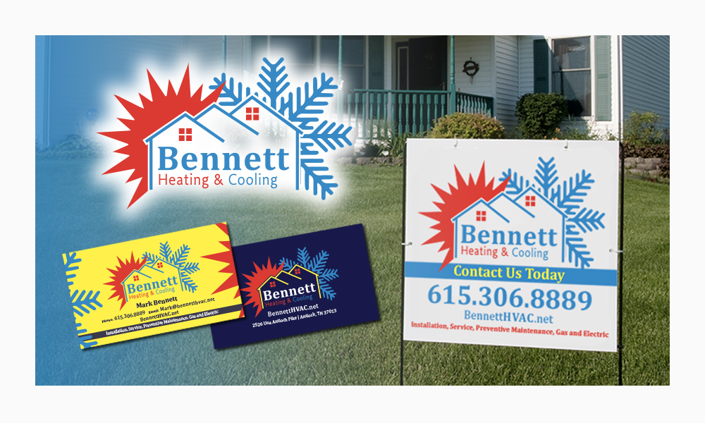 Bennett Heating Cooling Graphic Design